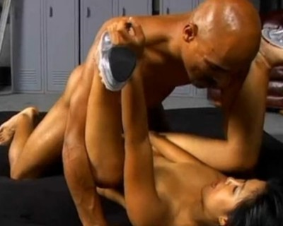 Asia japanese slut fucked hard by black guy