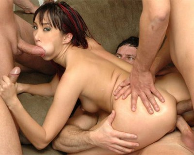 Katsuni destroyed in a violent gang bang