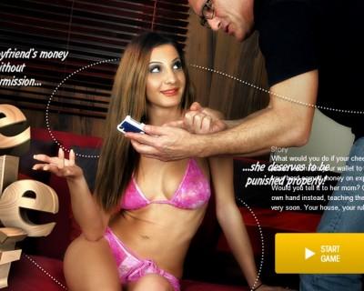 Alice Romain humiliée dans un jeu porno