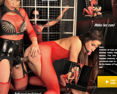 Dominatrix Christina Bella and Kathia Nobili screwed