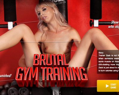 Gym time a special training for Alexa Wild : porn game